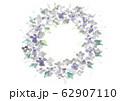 紫色の花の墨画リース 62907110