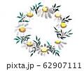 花の墨画リース 62907111