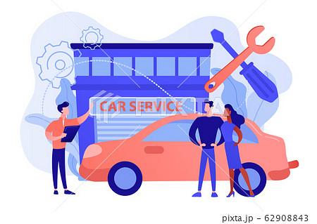 Car service concept vector illustration. 62908843