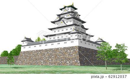 日本の白い城のイラスト 62912037