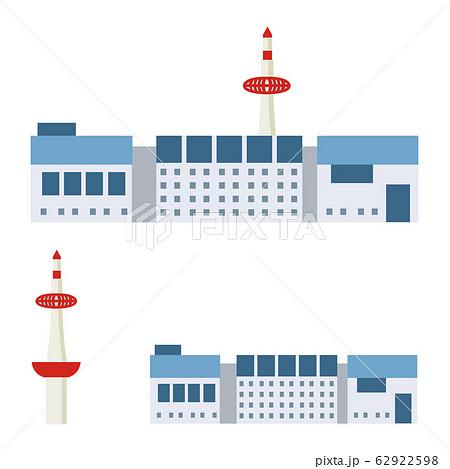 京都駅と京都タワー(セット) 62922598
