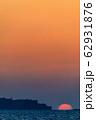 軍艦島夕陽 ながさきサンセットロード 【長崎県長崎市】 62931876