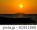 軍艦島夕陽 ながさきサンセットロード 【長崎県長崎市】 62931888