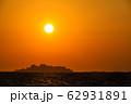 軍艦島夕陽 ながさきサンセットロード 【長崎県長崎市】 62931891