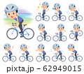 school boy Blue vest short sleeve_road bike 62949015
