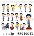 school boy Blue vest short sleeve_classic music 62949043