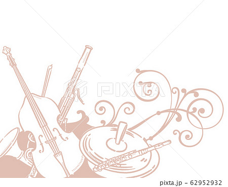 楽器、音楽がテーマの背景素材。 62952932