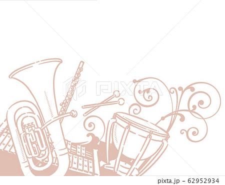 楽器、音楽がテーマの背景素材。 62952934