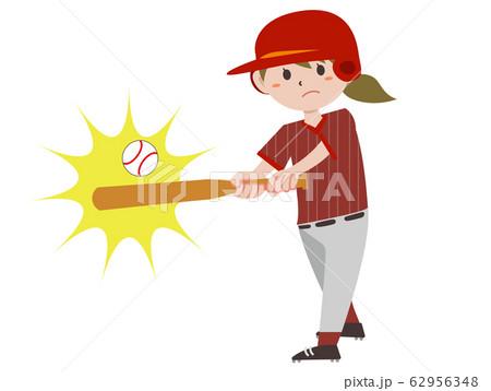 野球 打者 女性 62956348