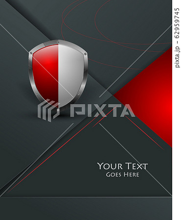 trendy background with shield 62959745