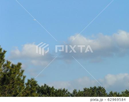 稲毛海浜公園の白い雲と青い空 62969584