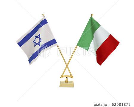 二つの国の卓上国旗 62981875