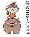 熊に乗った金太郎 62995496