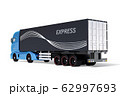 白バックに大型電動トラックの後部イメージ 62997693