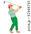 ゴルフ選手(シームレス) 62998793
