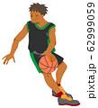 バスケットボールの選手(シームレス) 62999059