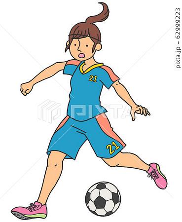 女子サッカー選手 62999223