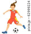 女子サッカー選手(シームレス) 62999224