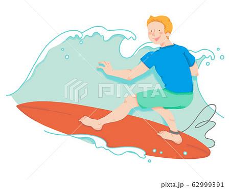 サーフィンの選手(シームレス) 62999391