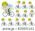 school boy pale green shirt summer_road bike 63005141
