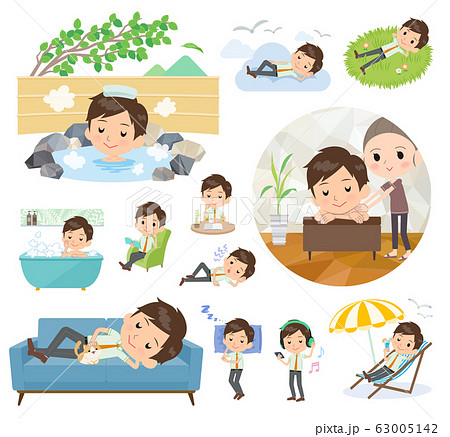 school boy pale green shirt summer_relax 63005142