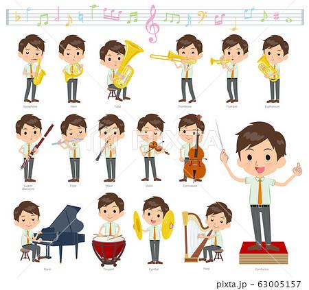 school boy pale green shirt summer_classic music 63005157