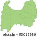 富山県の地図_市町村別 63012939