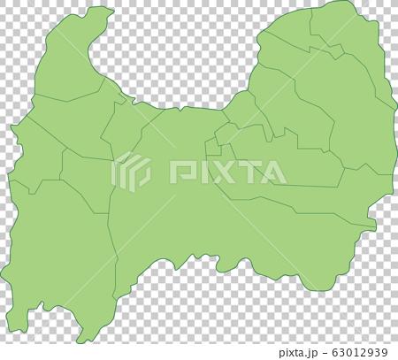 Map of Toyama Prefecture_Municipalities 63012939