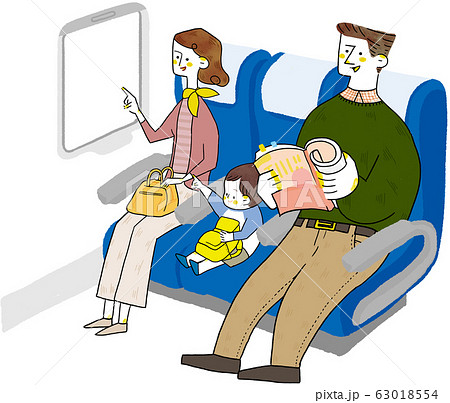 乗り物 旅行 家族 63018554