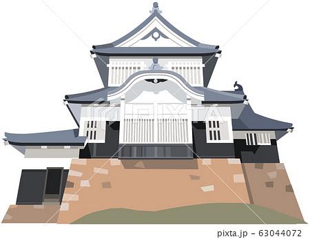 備中松山城イメージ 観光地イラストアイコン 63044072