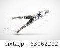 football abstract silhouette 2 vector ver. 63062292