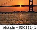明石海峡大橋の夕暮れ 冬編 63085141