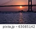 明石海峡大橋の夕暮れ 冬編 63085142