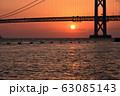 明石海峡大橋の夕暮れ 冬編 63085143