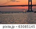 明石海峡大橋の夕暮れ 冬編 63085145