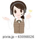 コールセンターの女性 63098026