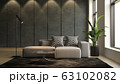Interior of modern living room with sofa 3 D rendering 63102082