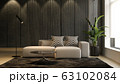 Interior of modern living room with sofa 3 D rendering 63102084