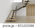 Interior empty room with stair 3D rendering 63102086