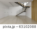 Interior empty room with stair 3D rendering 63102088