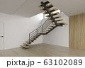 Interior empty room with stair 3D rendering 63102089