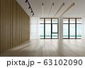 Interior empty room 3D rendering 63102090