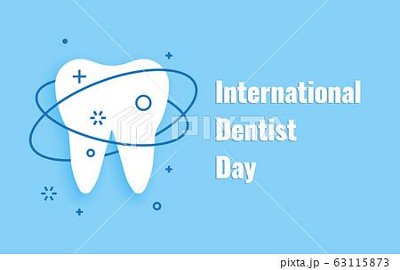 Vector illustration banner International Dentist Day 6 march 63115873