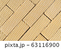 Wafer texture for background. Close up top view 63116900