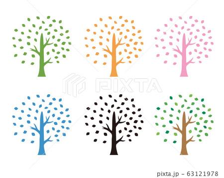 木のシルエットイラスト 63121978
