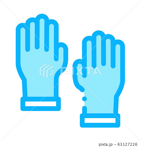 Master Gloves Icon Vector Outline Illustration 63127226