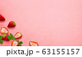 背景-フルーツ-苺-断面 63155157