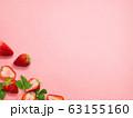 背景-フルーツ-苺-断面 63155160