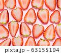 背景-フルーツ-苺-断面 63155194