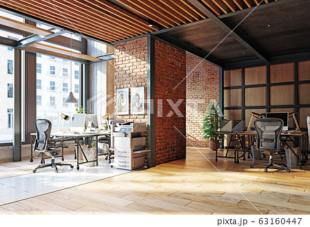 contemporary loft office 63160447